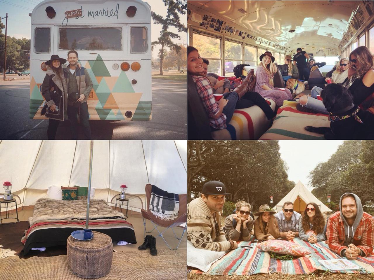 casamento estilo acampamento