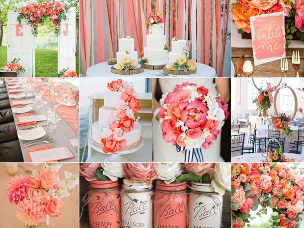 cor do ano 2019 decoracao de casamento