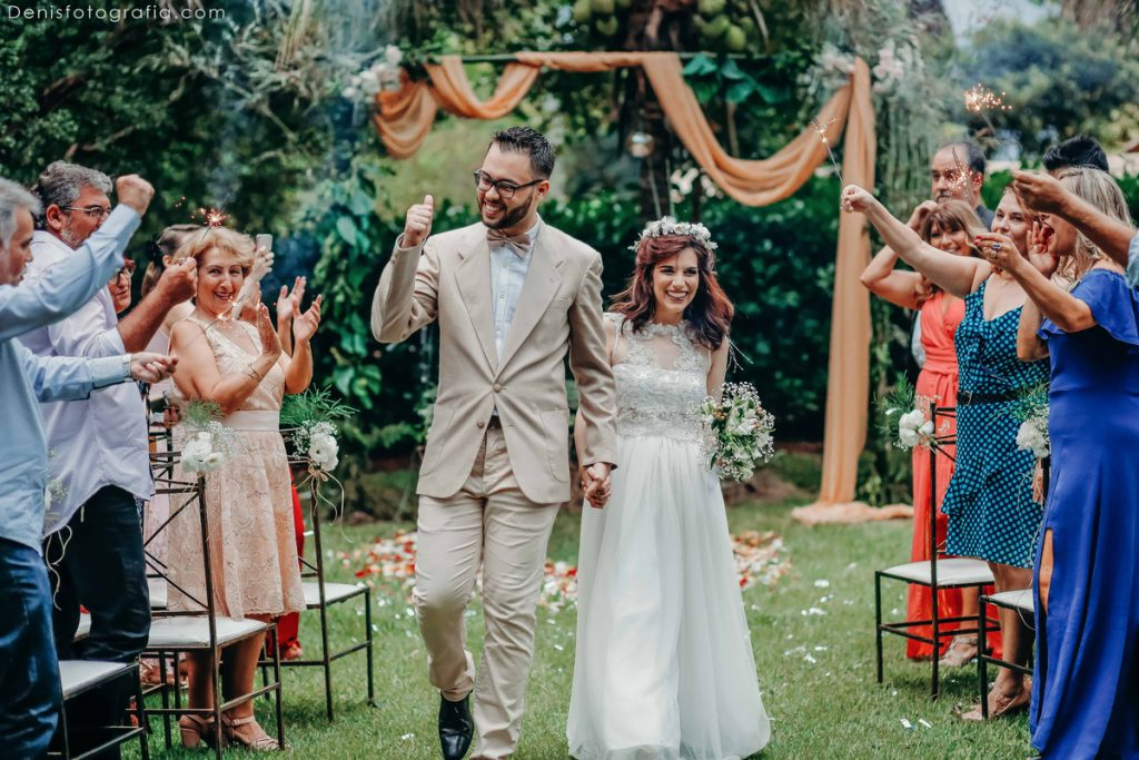 convidados no mini wedding