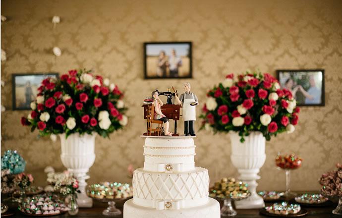 bolo para bodas de casamento