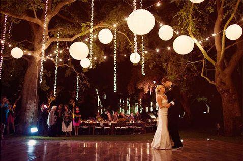 dicas de iluminação de casamento barata