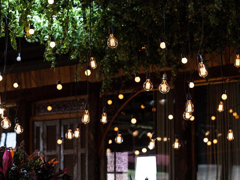 luzes para iluminação de casamento barata