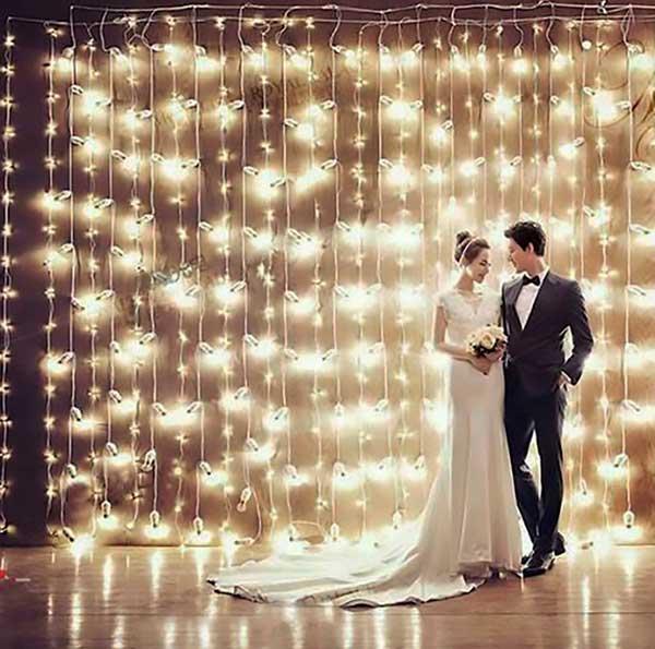 iluminação de casamento barata como fazer