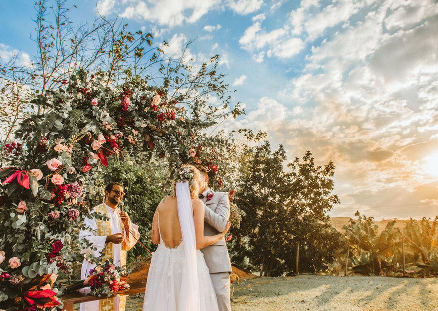 mini wedding na beira mar