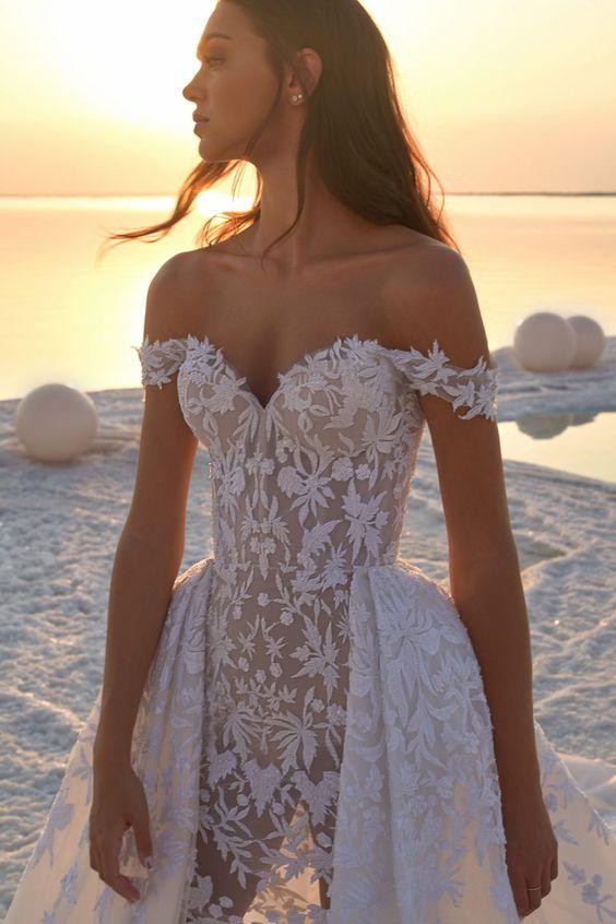 vestido de noiva 2020 com renda