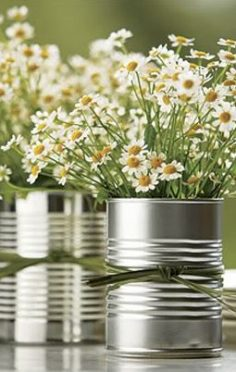 vaso de lata para casamento sustentável