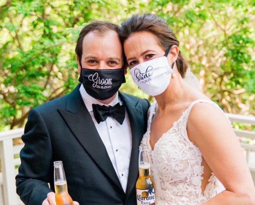 noiva de máscara personalizada