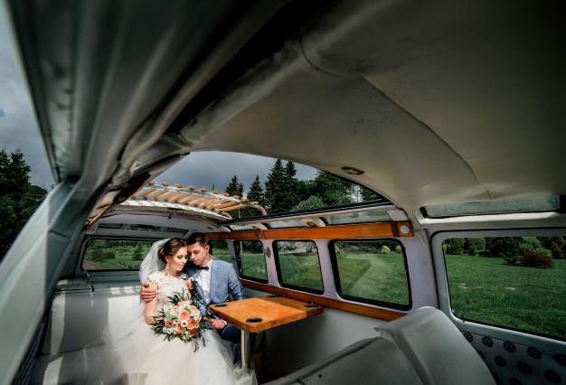ensaio pré wedding em combi