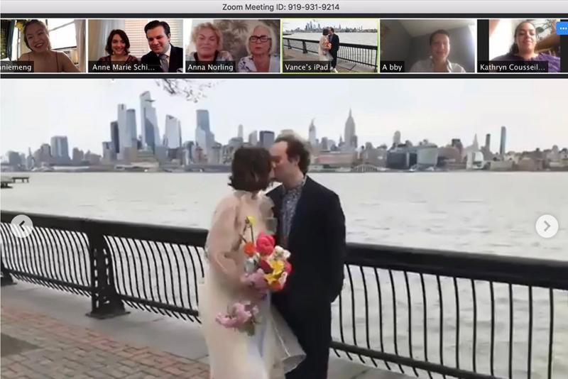 festa de casamento virtual por zoom