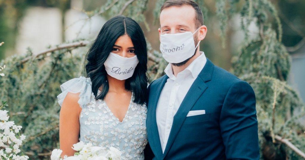 noiva de máscara de grafica