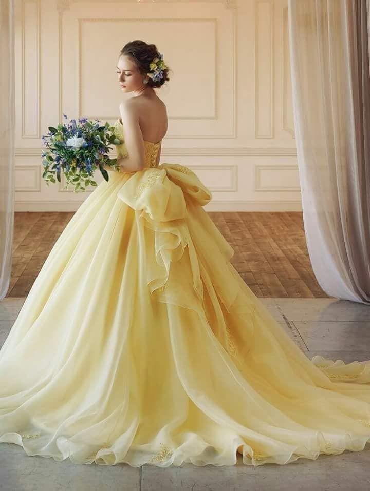 vestido de casamento amarelo tomara que caia