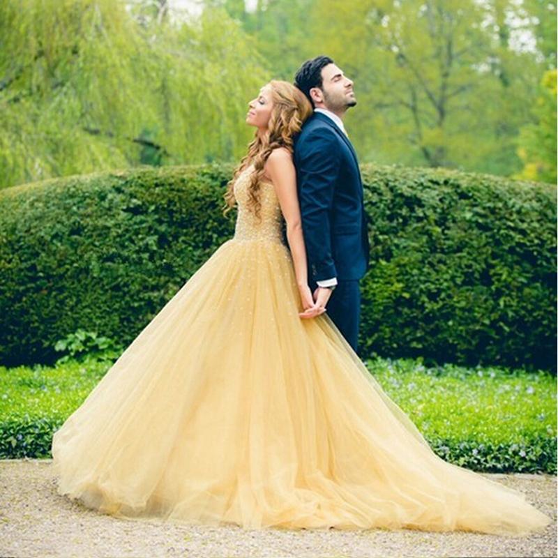 vestido de noiva amarelo princesa