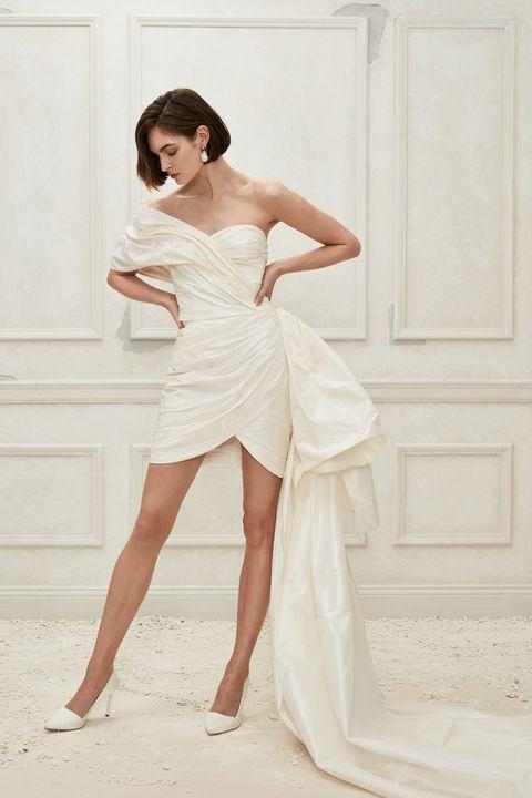 vestido de noiva curto fashion