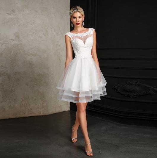vestido de noiva curto original e lindo