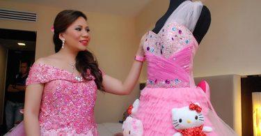 vestido de noiva diferente modelo hello kitty