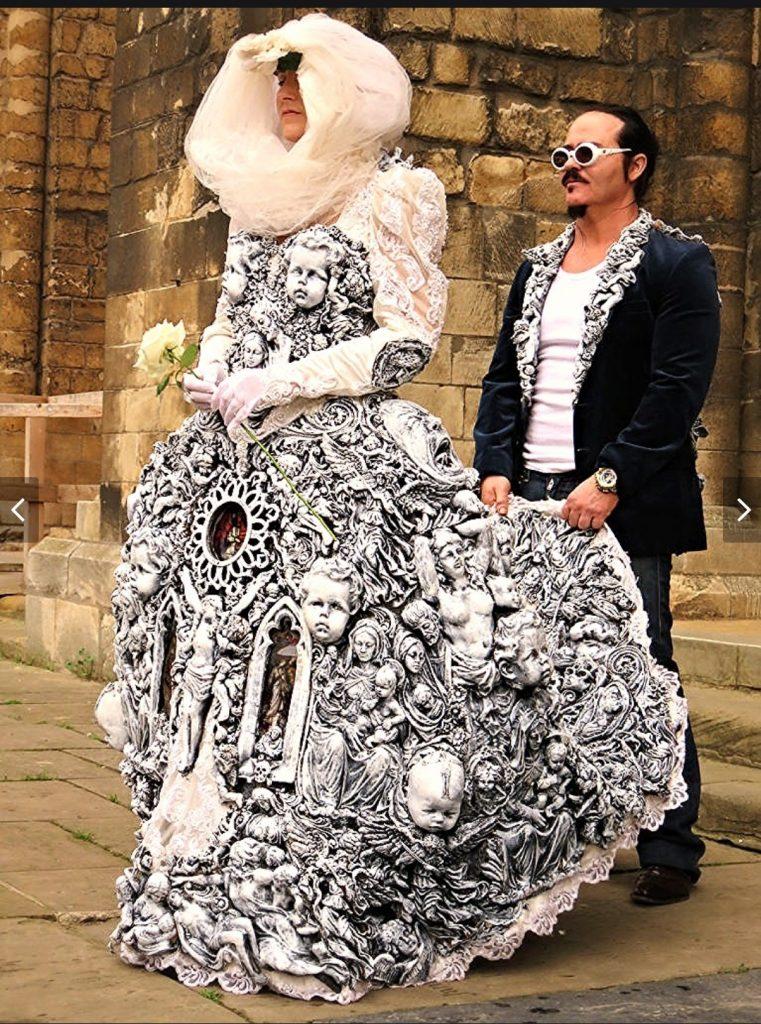 vestido de noiva diferente gótico
