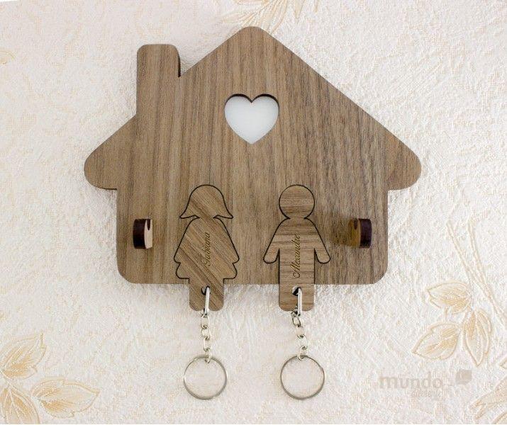 lembrancinha de casamento MDF porta chaves