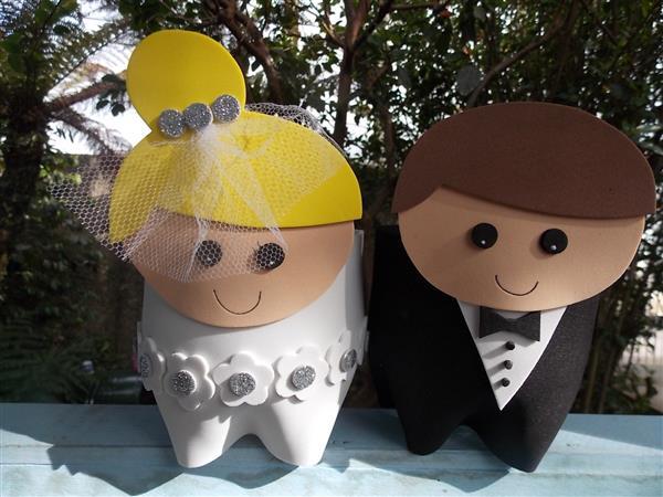 lembrancinha de casamento com reciclado feitas com PET