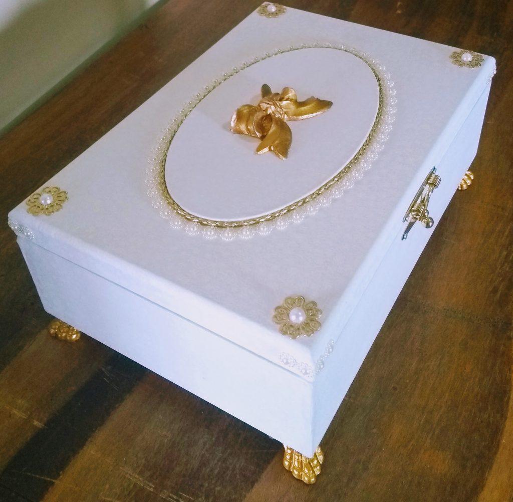 lembrancinha de casamento MDF caixa decorada