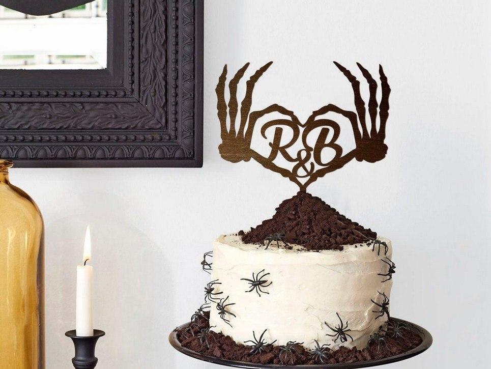 letras topper de bolo casamento