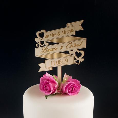 topper de bolo casamento impresso
