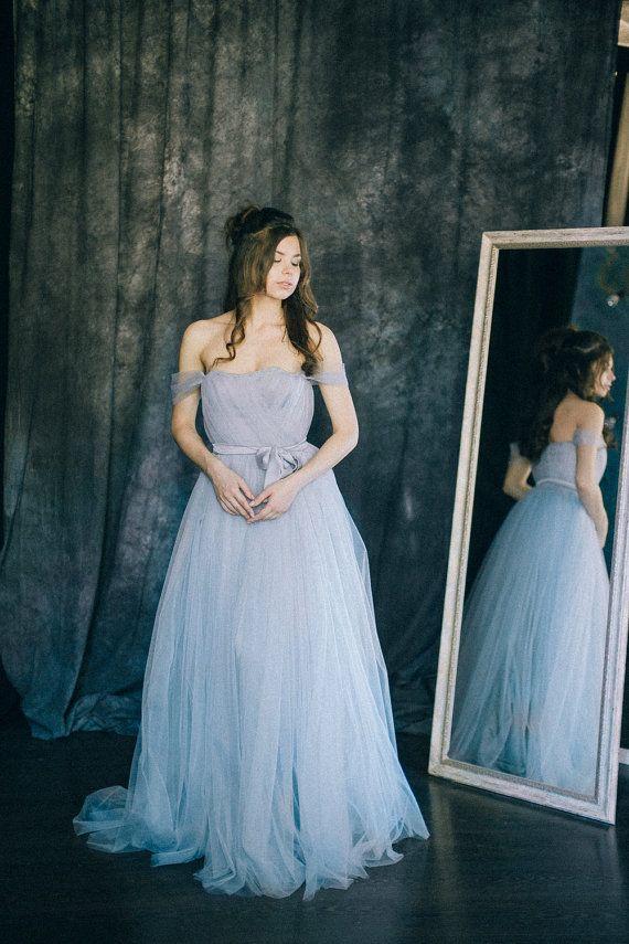 vestido de noiva azul renascentista