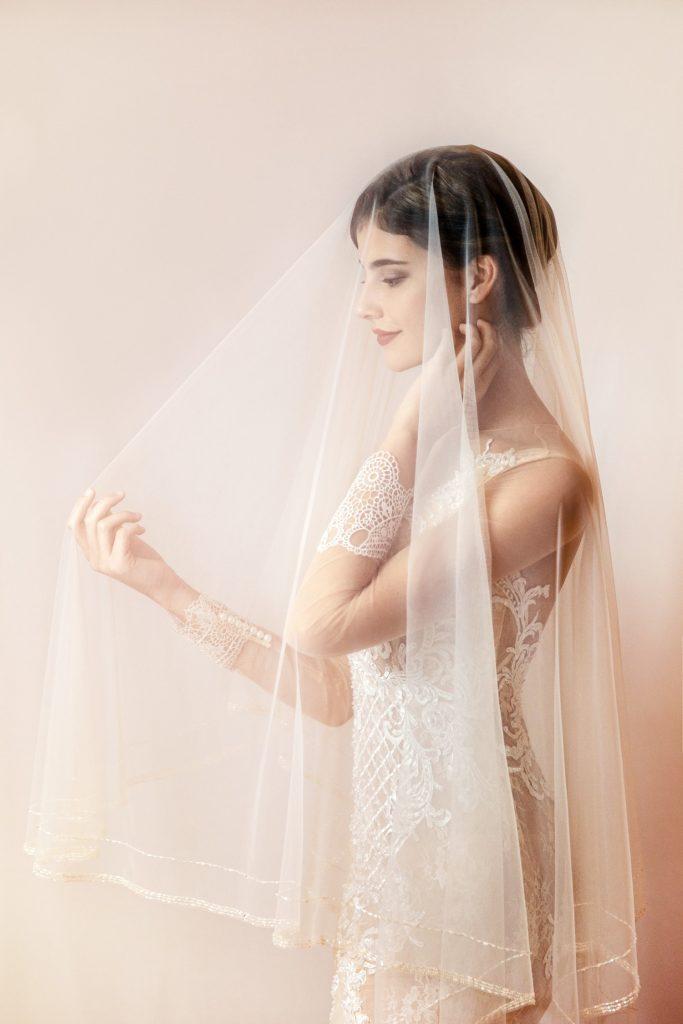 veu de noiva transparente