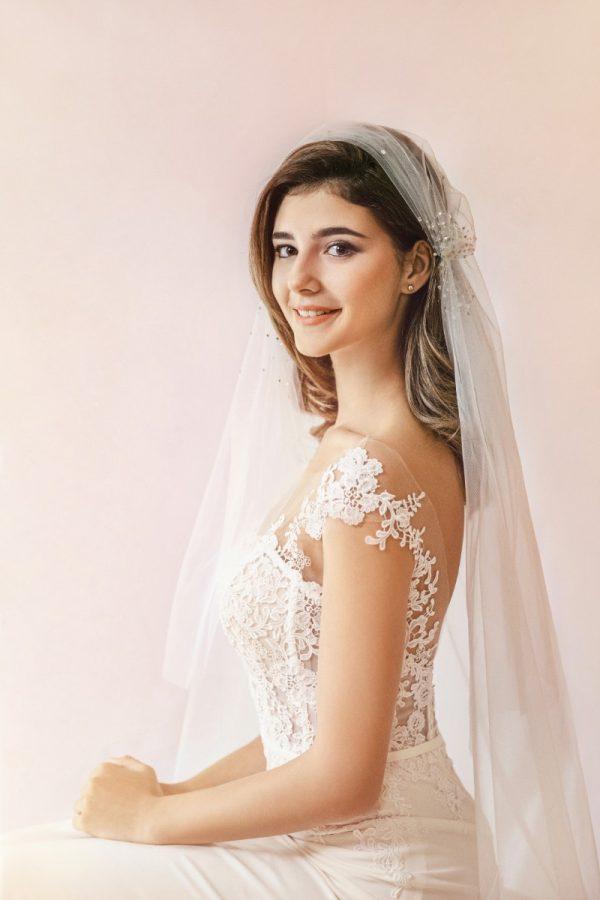 veu de noiva com tiara