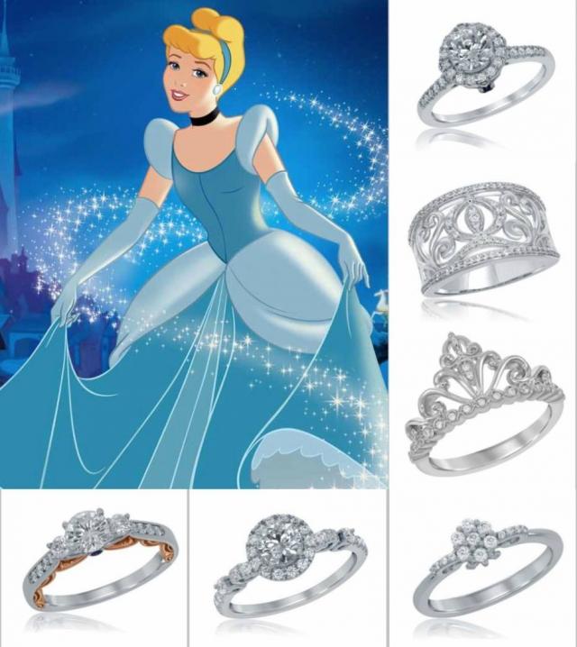 modelos de anel de noivado da Disney