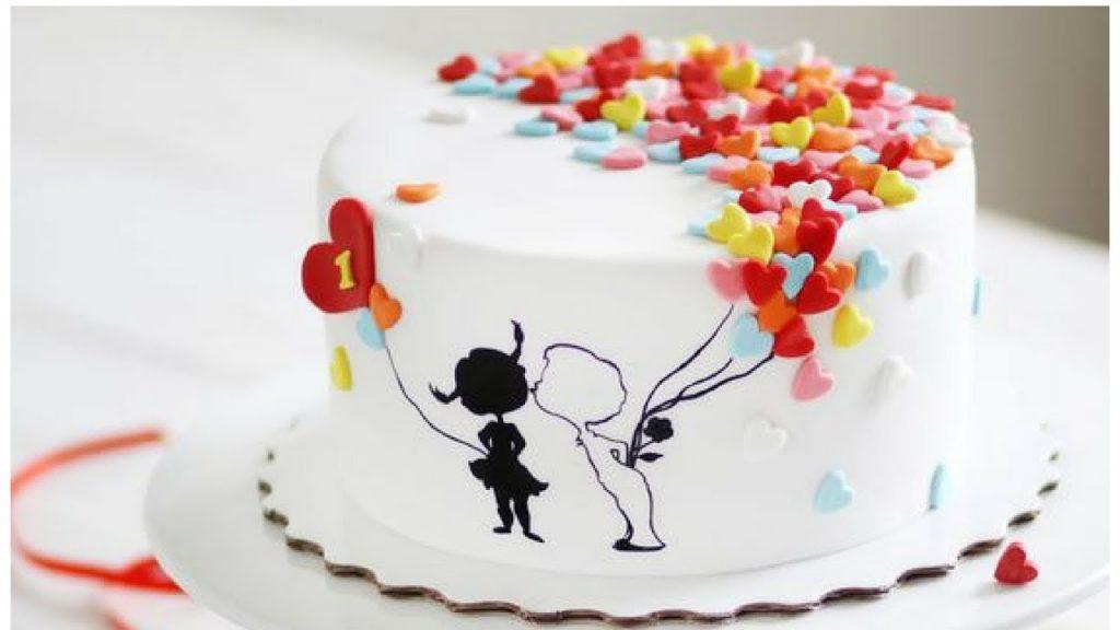 bolo de aniversário de casamento simples
