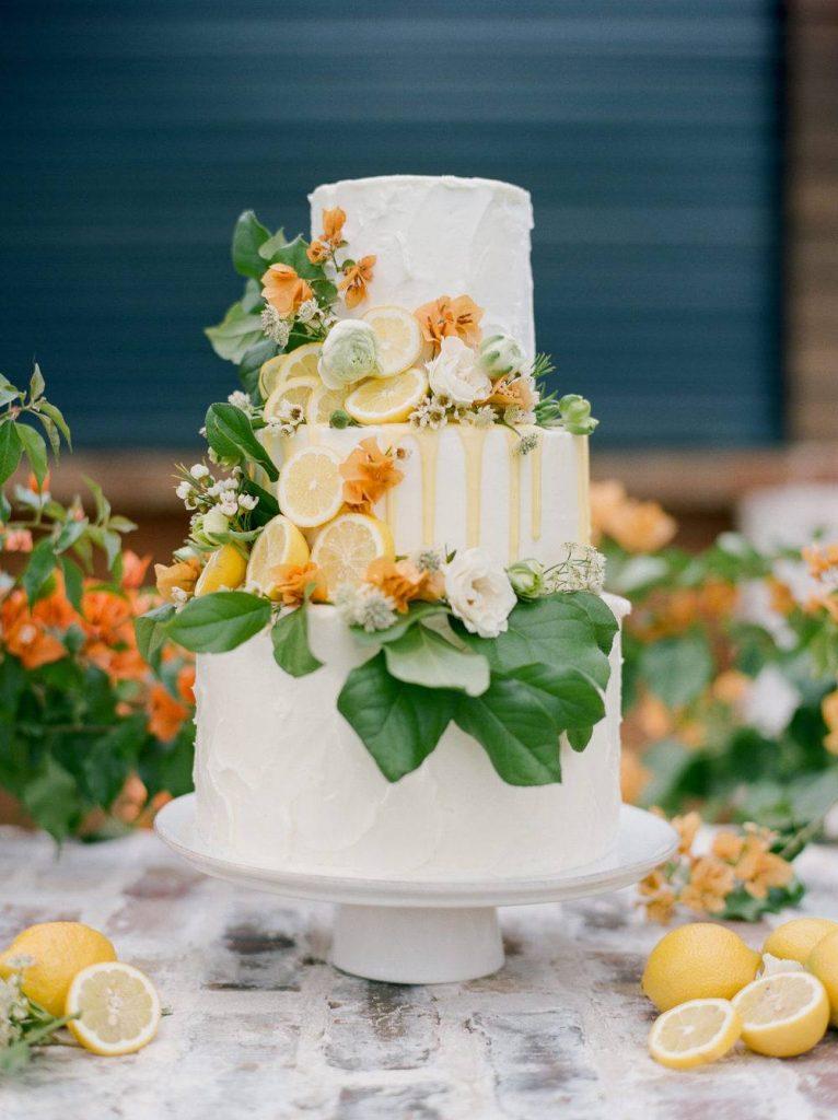 bolo de casamento com limão ciciliano