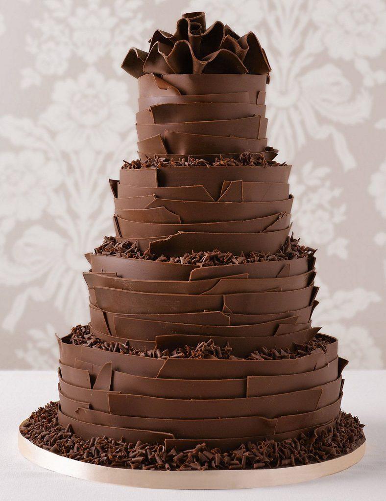 bolo de casamento de chocolate total