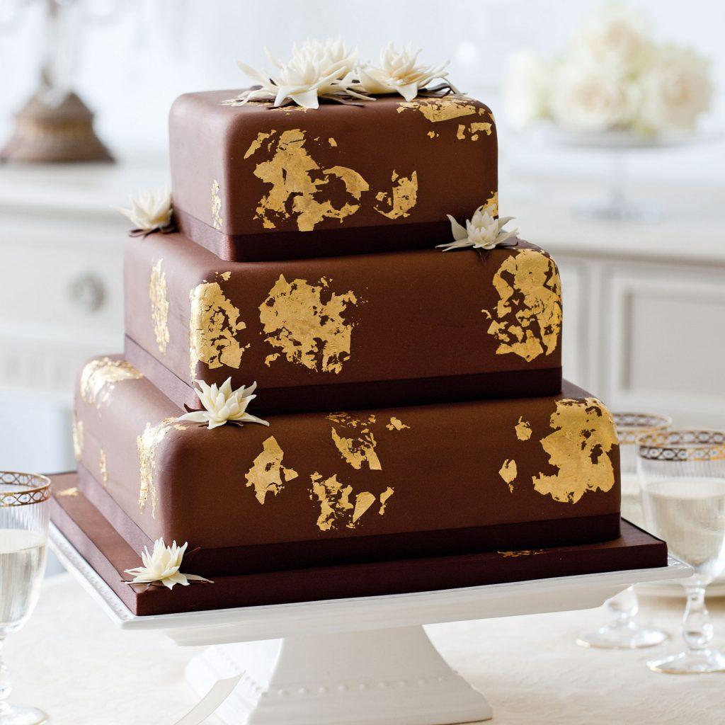 bolo de casamento de chocolate pasta americana