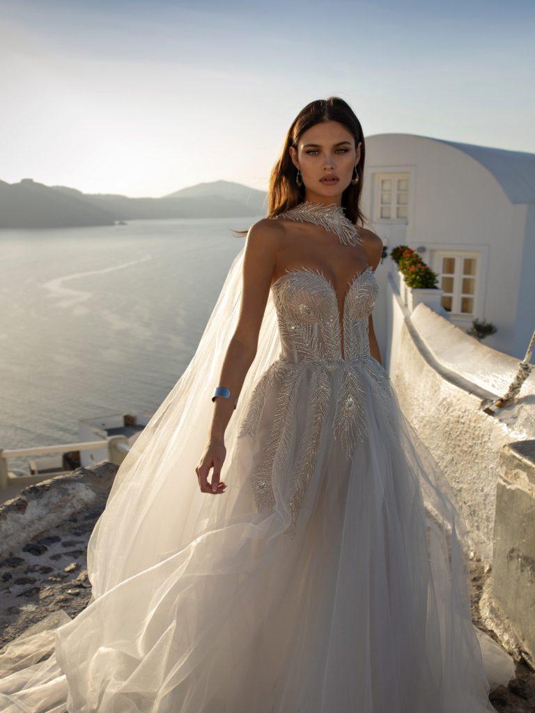 vestido de noiva moderno com brilho