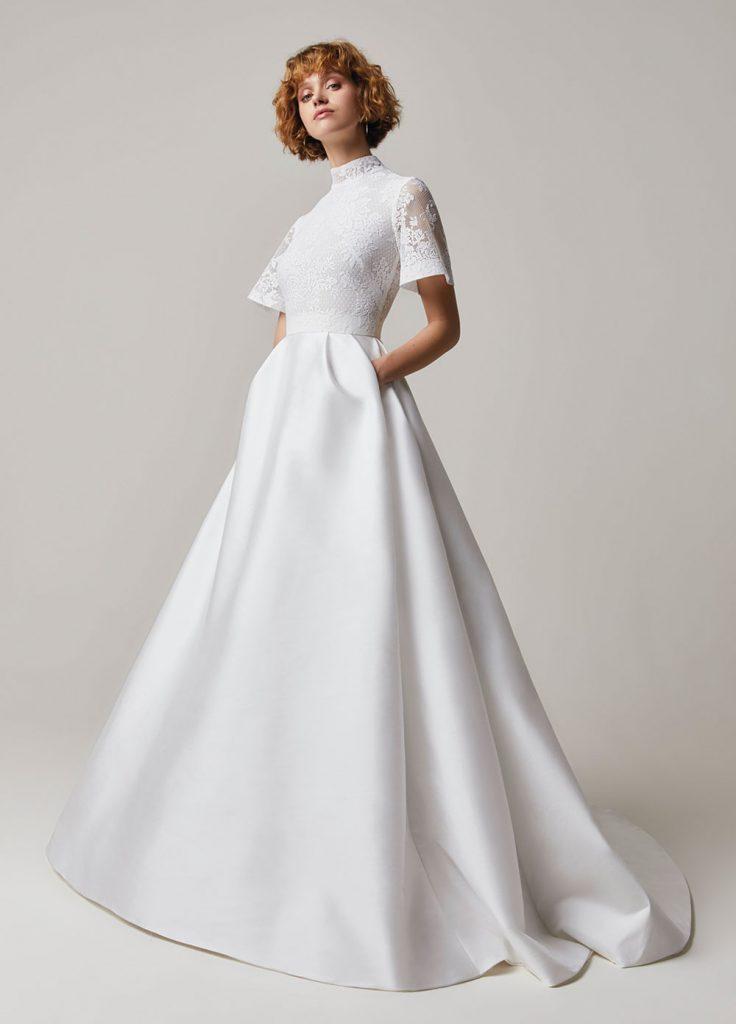 vestido de noiva moderno minimalista